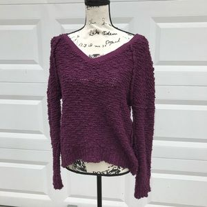 Free People oversized chunky purple sweater XS